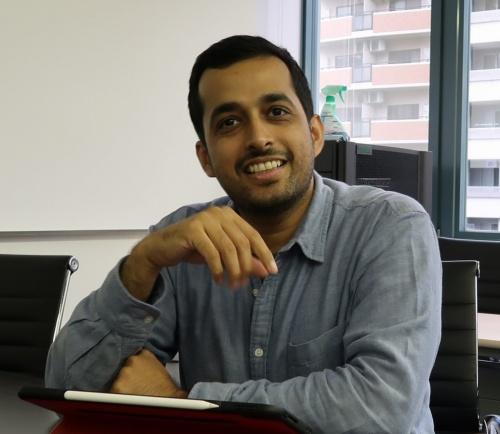 UAE出身で技術開発部3グループ チーフAIエンジニアのアブドゥル・ラーマン氏