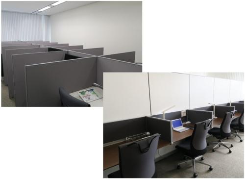 キユーピーが自社拠点に整備しているサテライトオフィスの例