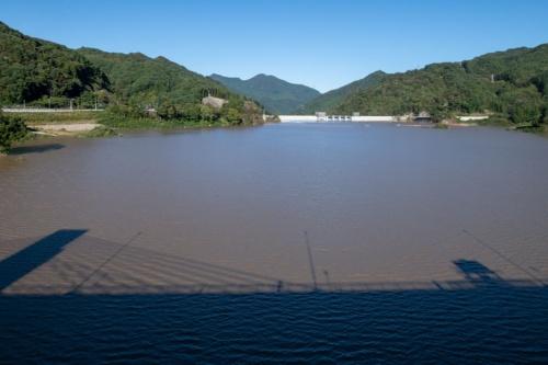 八ツ場大橋から19年10月13日に撮影(写真:大村 拓也)