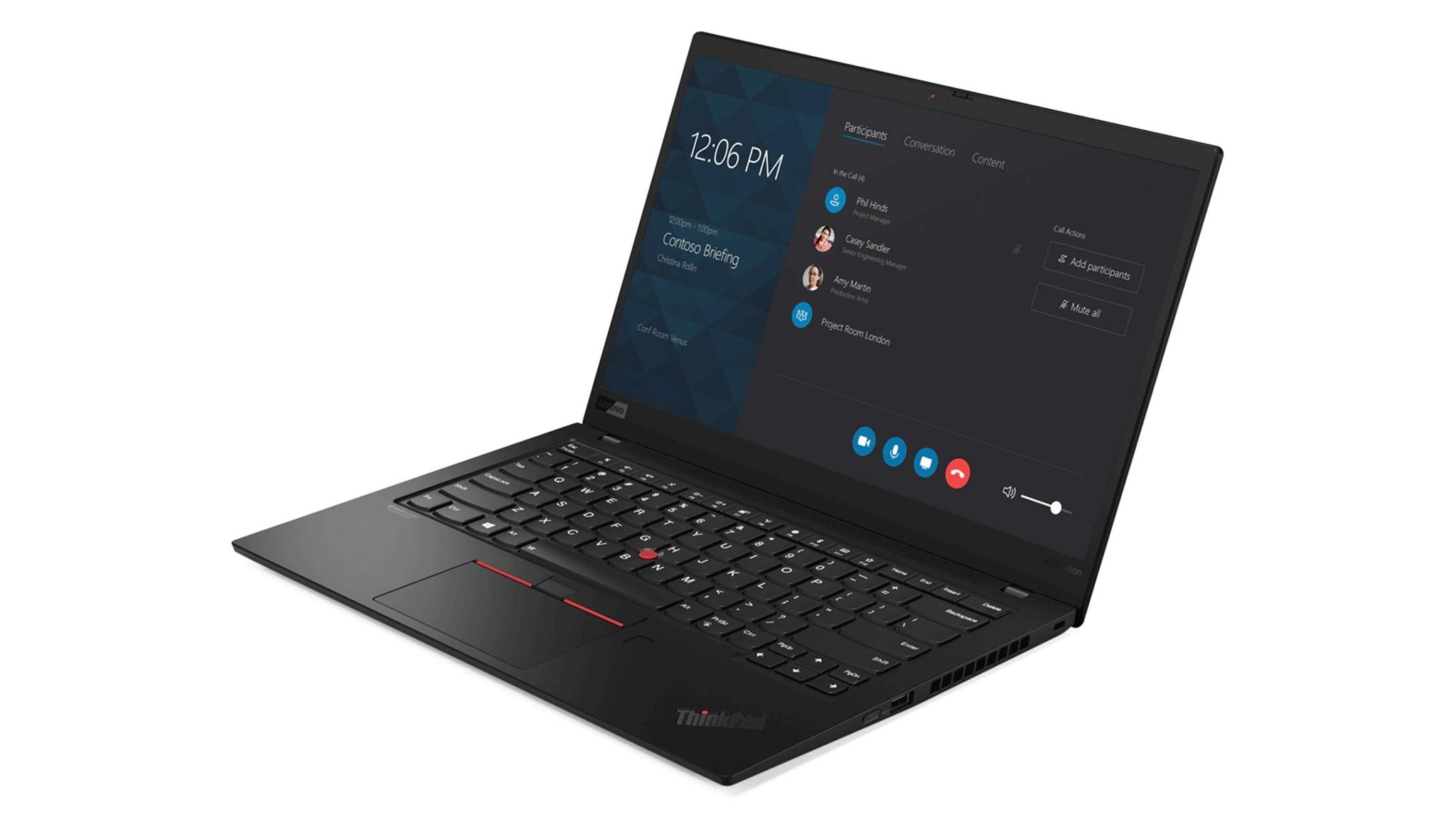 レノボのThinkPadシリーズは大画面モデルを含め、ほとんどのモデルでSIMフリーのWWAN(LTE)機能を選べる。写真はThinkPad X1 Carbon(2019) (出所:中国レノボ)