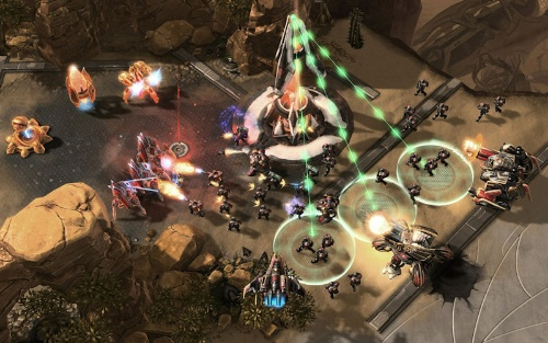 「StarCraft II」のゲーム画面