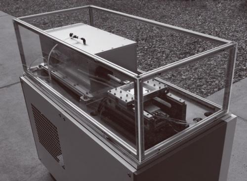 図1 コンロッドを使わない機構で駆動する往復摺動摩擦試験機