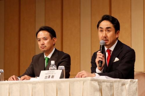 出沢社長(右)と川辺社長は「危機感を共有し、日本社会の課題を解決したい」と口をそろえる