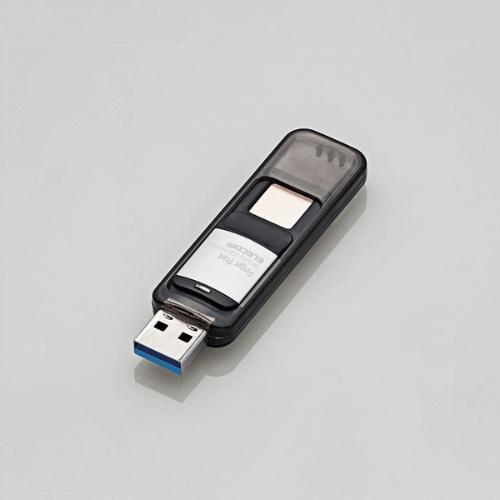 指紋認証機能を搭載するUSBメモリー「MF-FPU3032GBK」