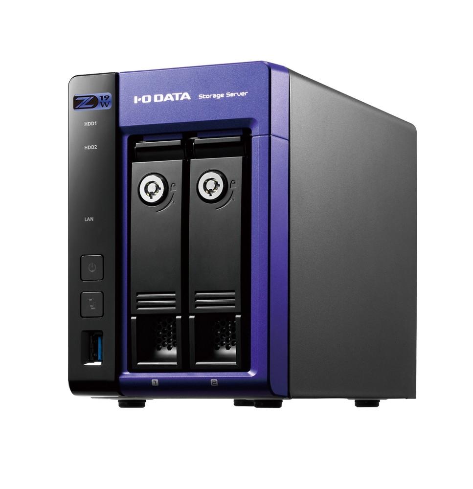 アイ・オー・データ機器のLAN DISKシリーズ「LAN DISK Z HDL2-Z19WCA-4」。ちょっと大きめの外付けHDDに見える。容量は4Tバイトで直販価格は14万5640円(税込)。ビジネスユーザー向けなのでちょっと高い (出所:アイ・オー・データ機器)