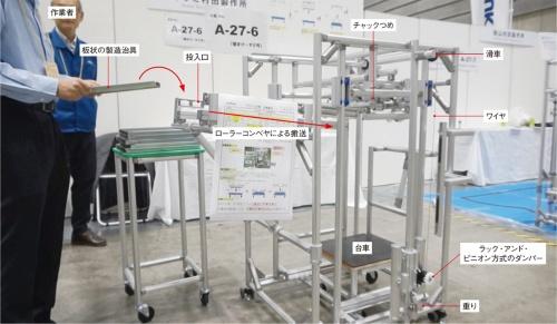 図1 イワミ村田製作所が出展した治具の積み込み装置