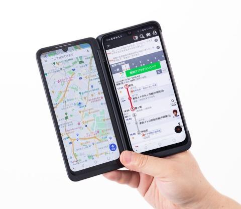 便利に感じたのが路線検索アプリと地図アプリを同時に表示できること。駅のホームで乗り換えを調べつつ、現地に着いたらどこに向かえばいいのか一目でわかる