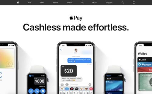 Apple Payのトップページ