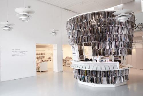 PAPER PAVILIONは、「Kunsthal Charlottenborg Museum(クンストハル・シャルロッテンボルグ美術館)」のレセプション(受付)に利用されている(写真:Yuta Sawamura)