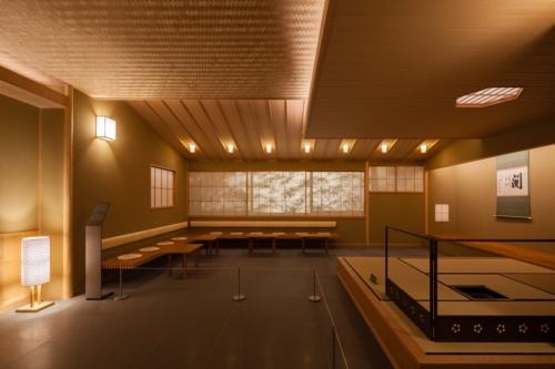 迎賓館和風別館「游心亭」の茶室を再現した(写真:吉田 誠)