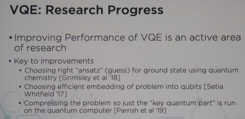 VQEの研究が急速に進展している(米QCウエアの発表より)