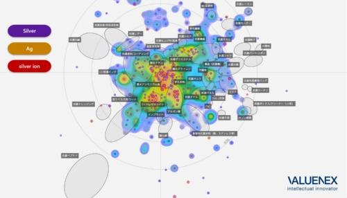 図2 銀系の抗菌技術の出願状況