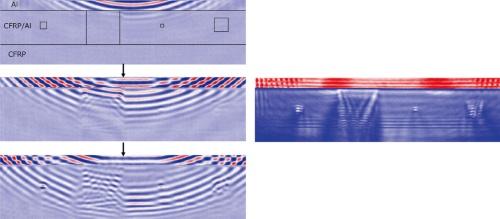 図4●接着接合部のレーザー超音波可視化探傷検査結果
