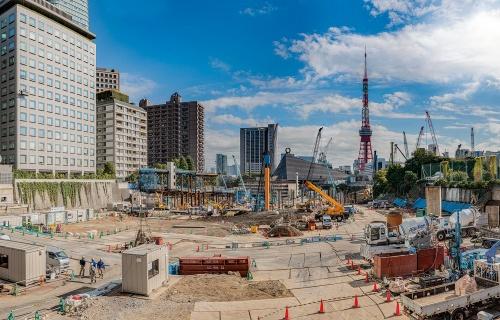 虎ノ門・麻布台プロジェクトの工事現場(19年11月撮影)(写真:大山 顕)