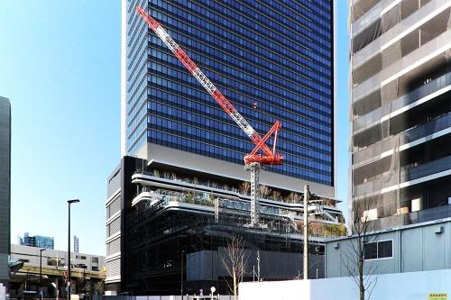 建設中の東京ポートシティ竹芝。20年2月撮影(写真:日経アーキテクチュア)