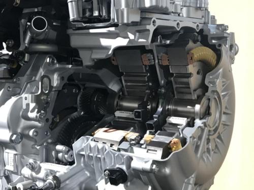 図4 e:HEVに搭載された2つのモーター