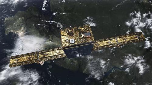 ICEYEが最初に打ち上げたSAR衛星「ICEYE X1」。横方向に大きく拡げているのがSARアンテナ。