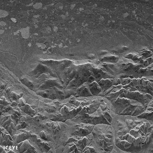 ICEYE X1のSARが撮像した画像の例