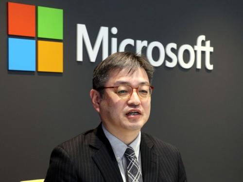 日本マイクロソフトの岡部一志業務執行役員コーポレートコミュニケーション本部長