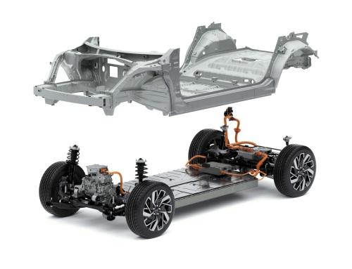 EV専用プラットフォーム「Electric-Global Modular Platform(E-GMP)」(写真:現代自動車)