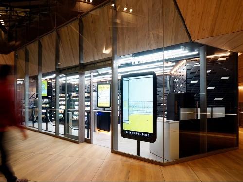 高輪ゲートウェイ駅に開店する無人店舗「TOUCH TO GO」の外観