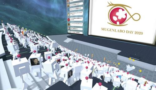 バーチャルイベント・プラットフォーム 「cluster」を使って開催するKDDI のイベント「MUGENLABO DAY 2020」の予想図