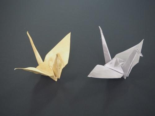 図1 「おりあみ(ORIAMI)」で折った折り鶴