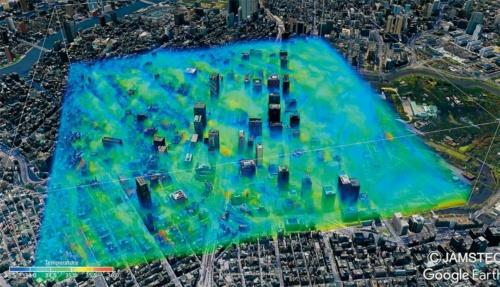 (c)都市部の熱中症対策のための気温分布の可視化