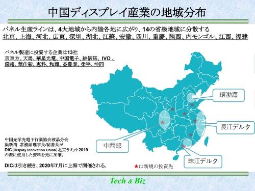 図2 中国のディスプレー産業クラスター配置