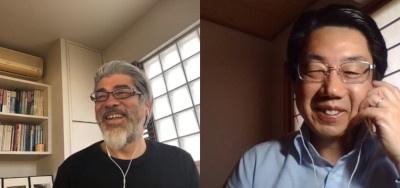左が芸林氏、右が後藤氏(ビデオ会議の模様を日経クロステックがキャプチャー)