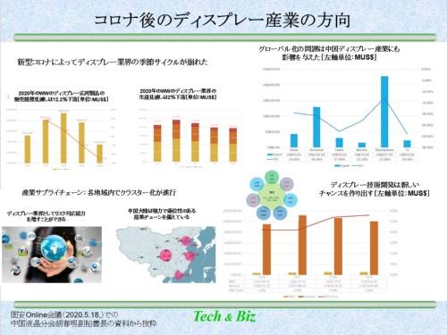 図2 中国ディスプレー産業の現状を示す胡春明副秘書長の講演内容
