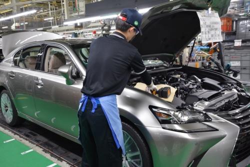 トヨタ自動車が愛知県豊田市に構える元町工場の完成車生産ライン(出所:トヨタ自動車)