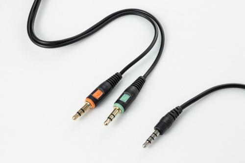 音声入出力を1つにまとめた4極と呼ぶ製品と(写真右)、入力と出力が別の製品がある(写真左)。購入前に確認しておこう。変換ケーブルを付属することで両方に対応する製品もある