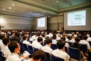 2019年に開催された「人とくるまのテクノロジー展2019横浜」の講演会の様子。2020年は横浜、名古屋のいずれも中止となった。(出所:自動車技術会)