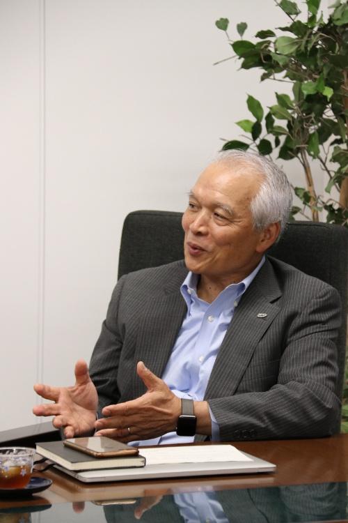 情報通信研究機構(NICT)理事長の徳田英幸氏