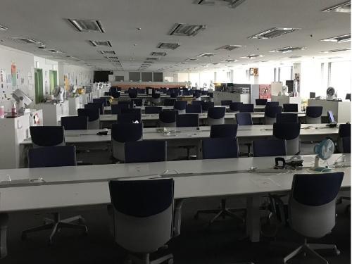 5700人がテレワークに移行した東京ガスのオフィス(出所:東京ガス)