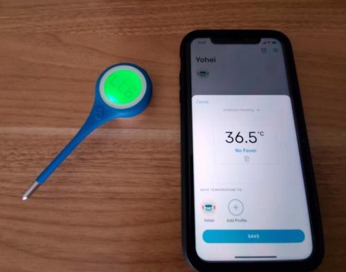 キンサのスマート体温計とスマホアプリ