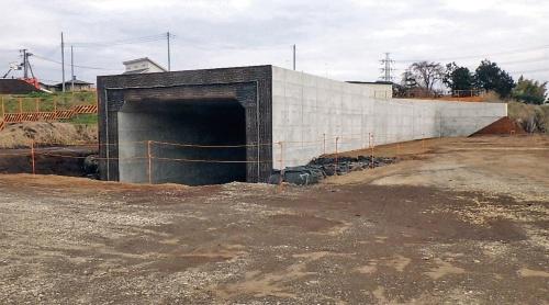 施工を終えた上粕屋北1号函渠。施工者が着工前の設計照査でミスに気づいたので、構造物は問題なく仕上がった(写真:国土交通省)