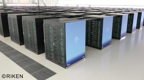 理化学研究所と富士通が共同開発したスーパーコンピューター「富岳(ふがく)」