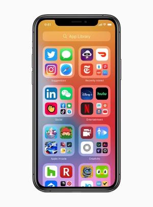 全てのアプリを1つの画面で管理できる「App Library」も提供。それによってApp Library以外のホーム画面の表示・非表示も変更できるようになった
