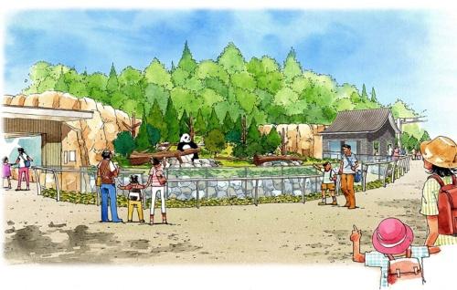 新パンダ舎の完成予想図(資料:東京都)