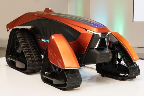 次世代型の農業機器をイメージした「クボタコンセプトトラクタ」(出所:クボタ)