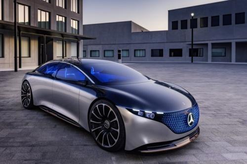 ドイツDaimler(ダイムラー)が2021年以降の発売を目指す電気自動車(EV)のコンセプト「Vision EQS(ビジョンEQS)」(出所:Daimler)