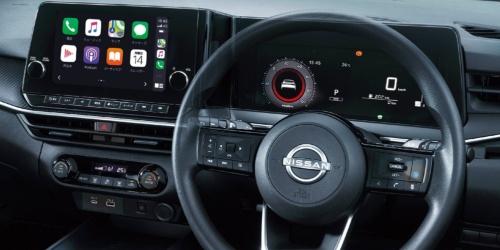 日産自動車が2020年12月23日に発売予定の新型小型車「ノート」のインストルメントパネル(インパネ)。大型ディスプレーが2枚設置されている(出所:日産自動車)