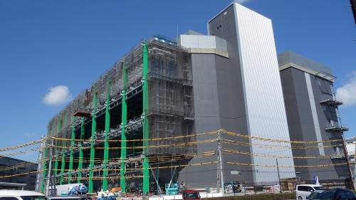 千葉ニュータウン中央駅周辺で建設されているデータセンター向けの建物