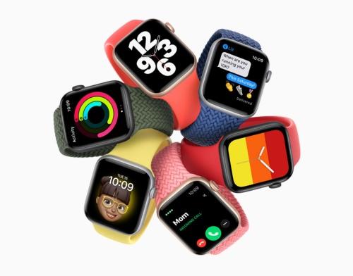 アップルが新たに投入した「Apple Watch SE」。「Apple Watch Series 6」と比べいくつかの機能が減らされているが、その分2万9800円からとより安価に提供される