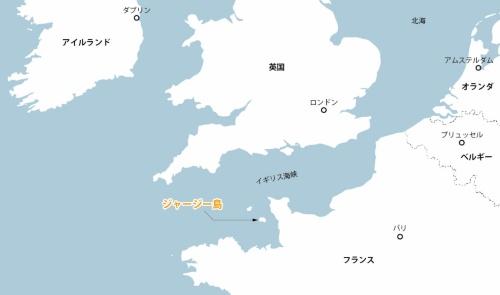 英王室属領のジャージー島は、フランス側からわずか20kmの沖合にある(資料:日経クロステック)