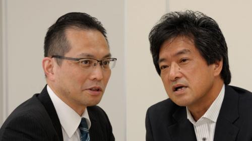 福島隆則氏(左)と石川卓弥氏(写真:日経不動産マーケット情報)