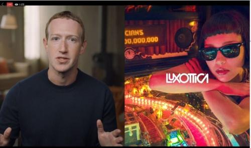 FacebookはLuxotticaと提携し、21年にARグラスを発売する