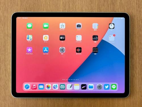 iPad Air(第4世代)に搭載されているディスプレーのサイズは10.9インチで、11型iPad Pro(第2世代)の11インチよりもわずかだが小さい。その分ディスプレーの周囲にある縁がやや太いが、比較しなければ分からない程度だ